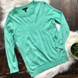 J. CREW Mint Green Tippi Sweater 100% Merino Wool